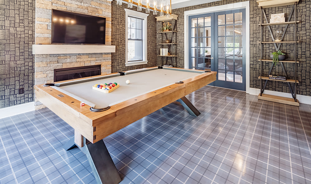 Billiards table at apartments in Webster, New York