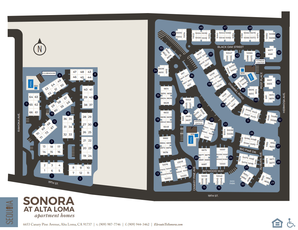 View a map of Sonora at Alta Loma in Alta Loma, California