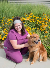 Chelsea at University West Pet Clinic in Clive, Iowa