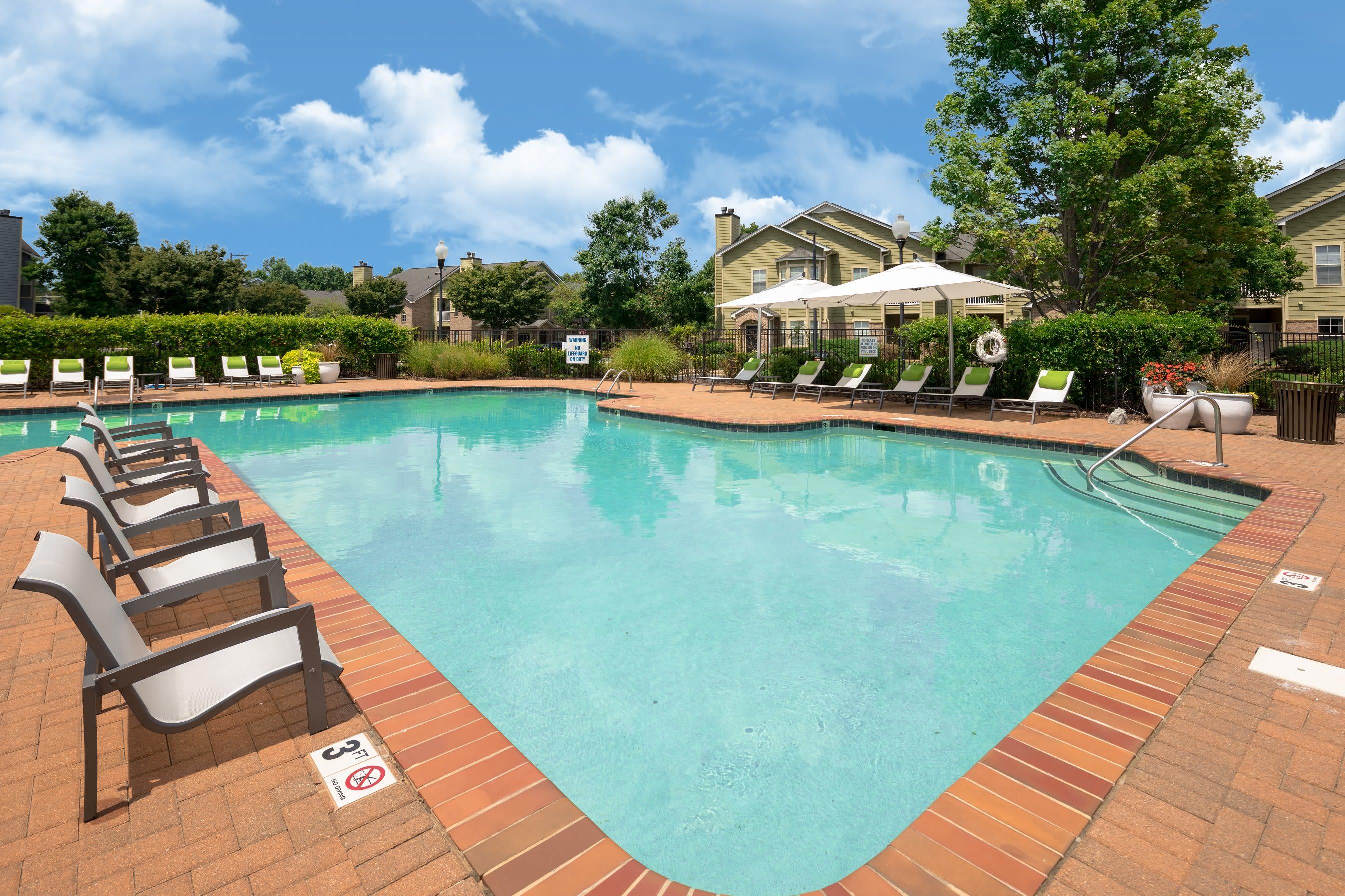 Outdoor pool at Highlands at Alexander Pointe in Charlotte, North Carolina