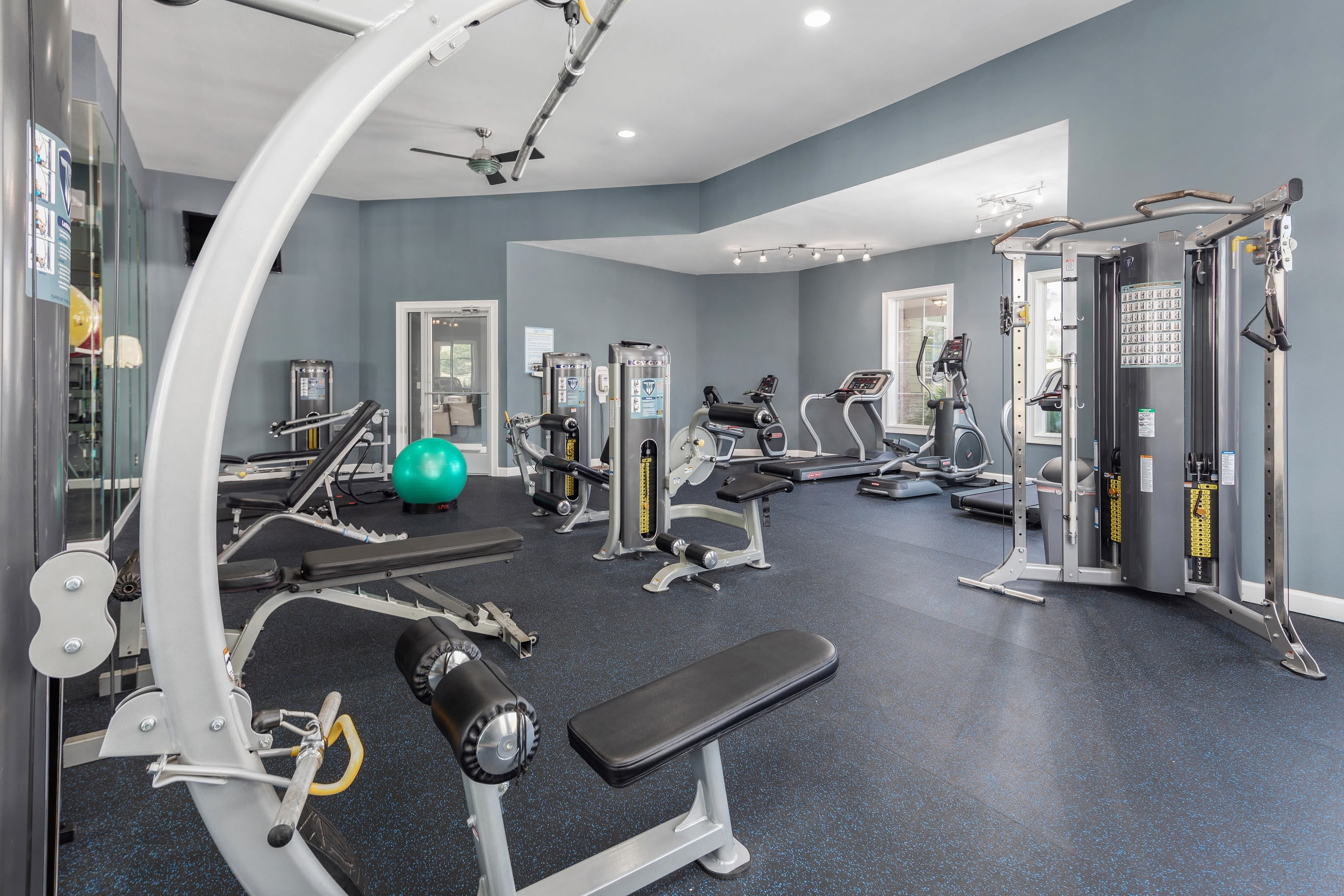 Fitness center at Highlands at Alexander Pointe in Charlotte, North Carolina