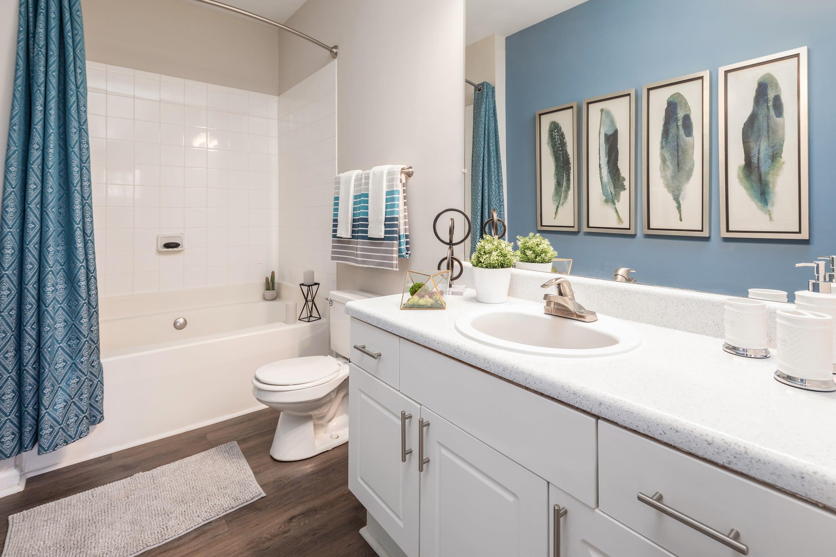 Main bathroom at Highlands at Alexander Pointe in Charlotte, North Carolina