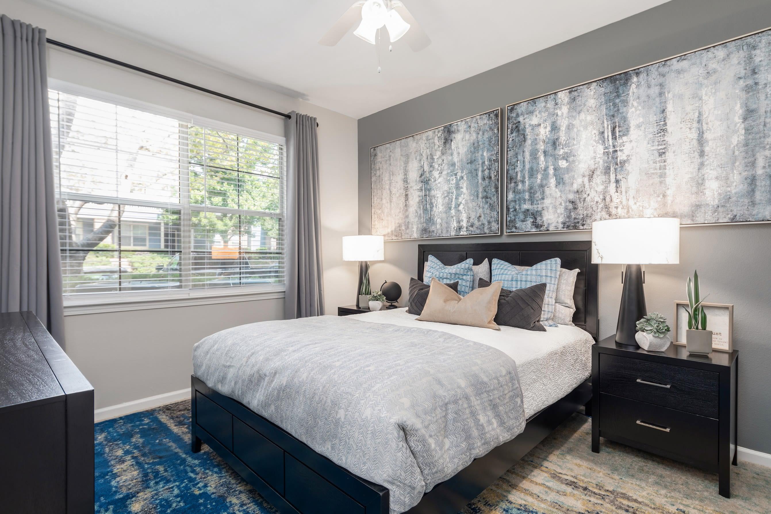 Main bedroom at Highlands at Alexander Pointe in Charlotte, North Carolina