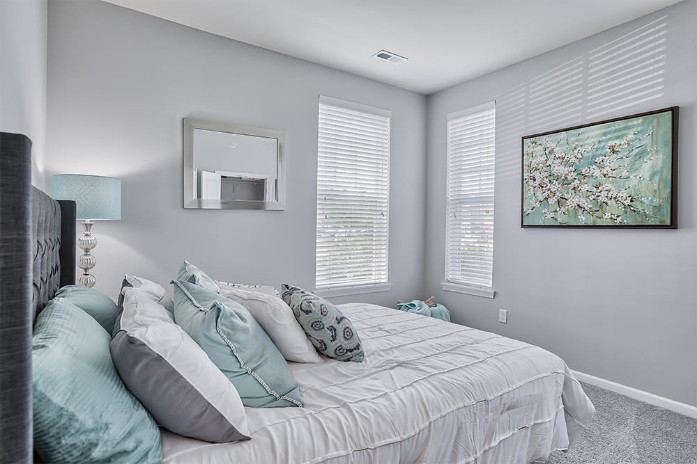 Naturally well-lit bedroom at Overlook Apartments in Elsmere, KY