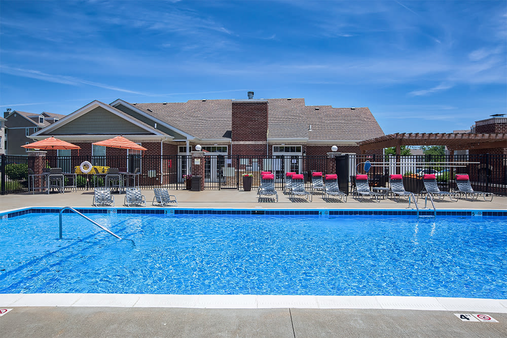 Beautiful swimming pool at apartments in Elsmere, KY