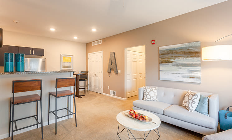 Reserve at Southpointe offers a luxury living room in Canonsburg, Pennsylvania