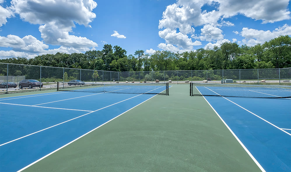 Tennis courts at apartments in Cranberry Township, Pennsylvania