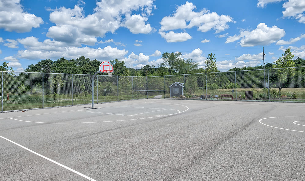 Basketball court at apartments in Cranberry Township, Pennsylvania