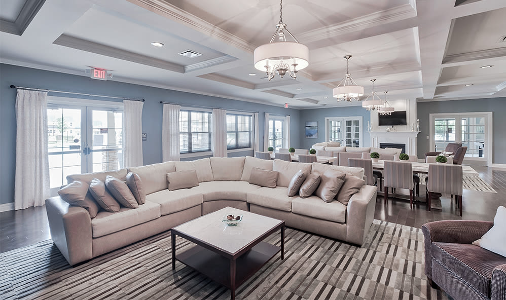 Beautiful clubhouse at apartments in Cranberry Township, Pennsylvania