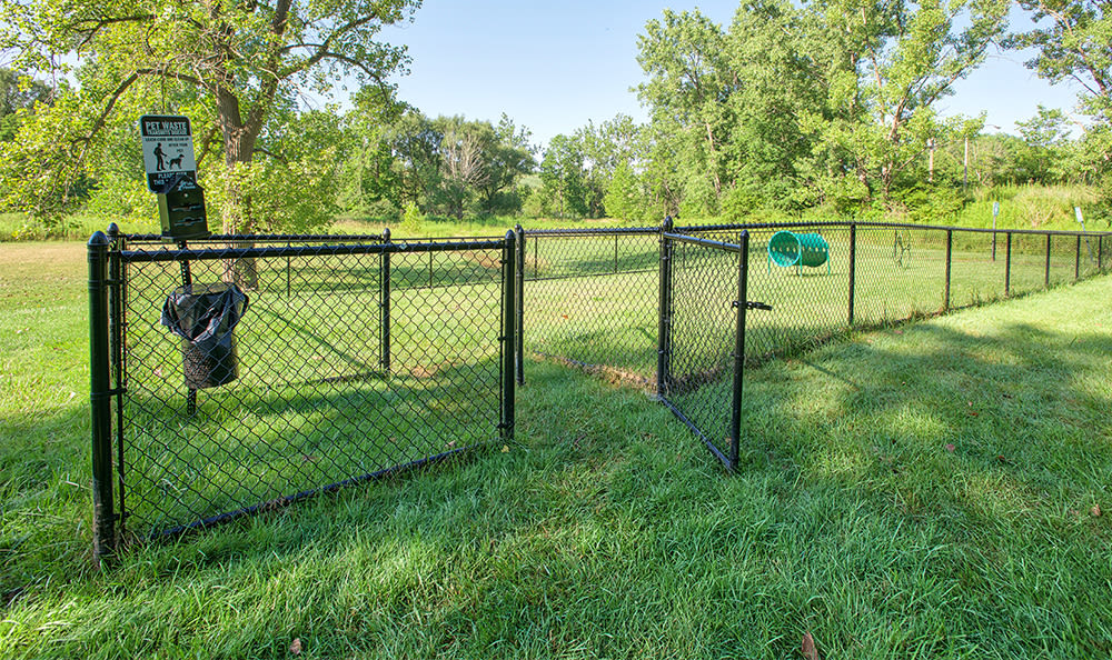 Dog park at Solon Club Apartments in Oakwood Village, OH