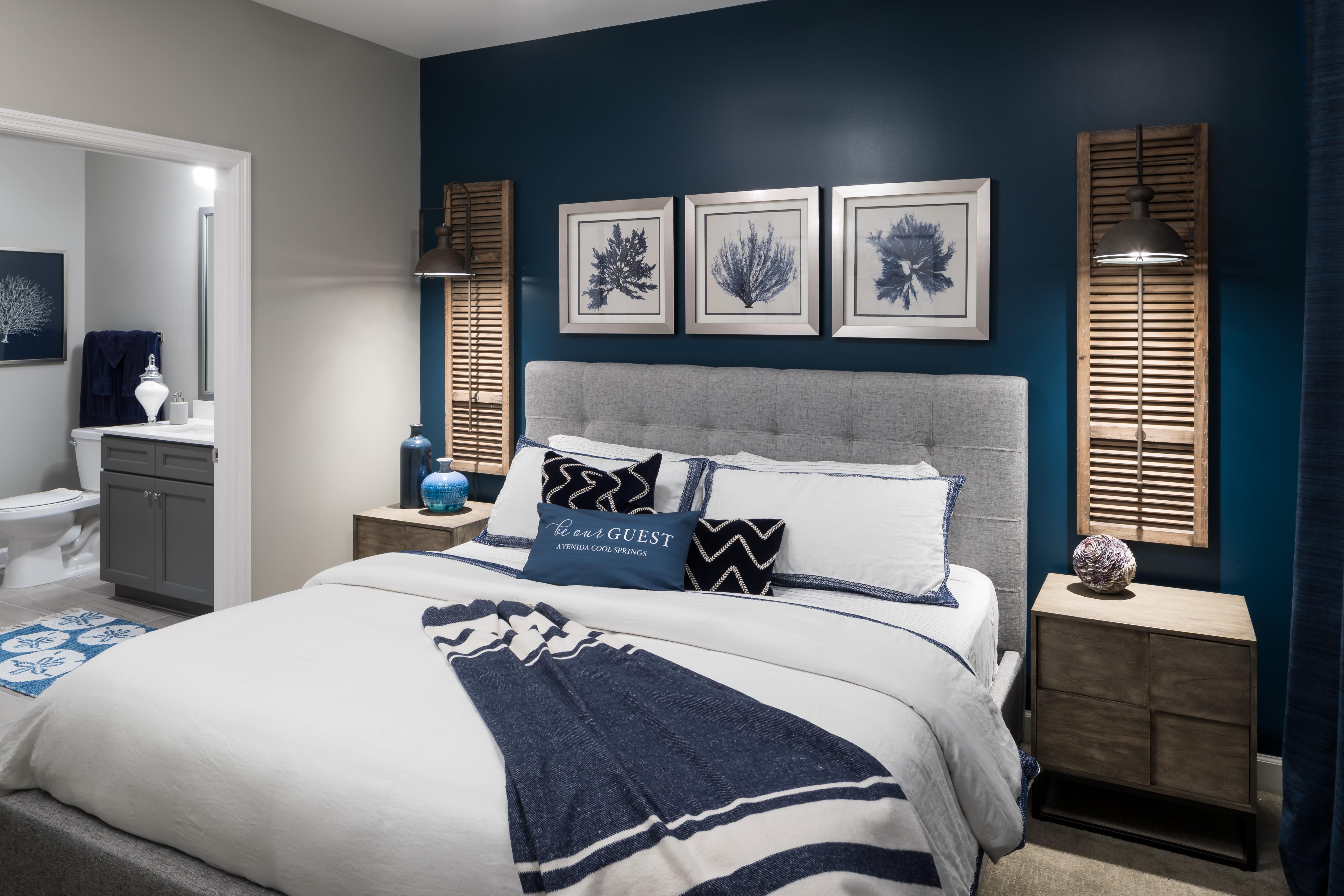 Master Bedroom at Avenida Cool Springs Senior Apartments