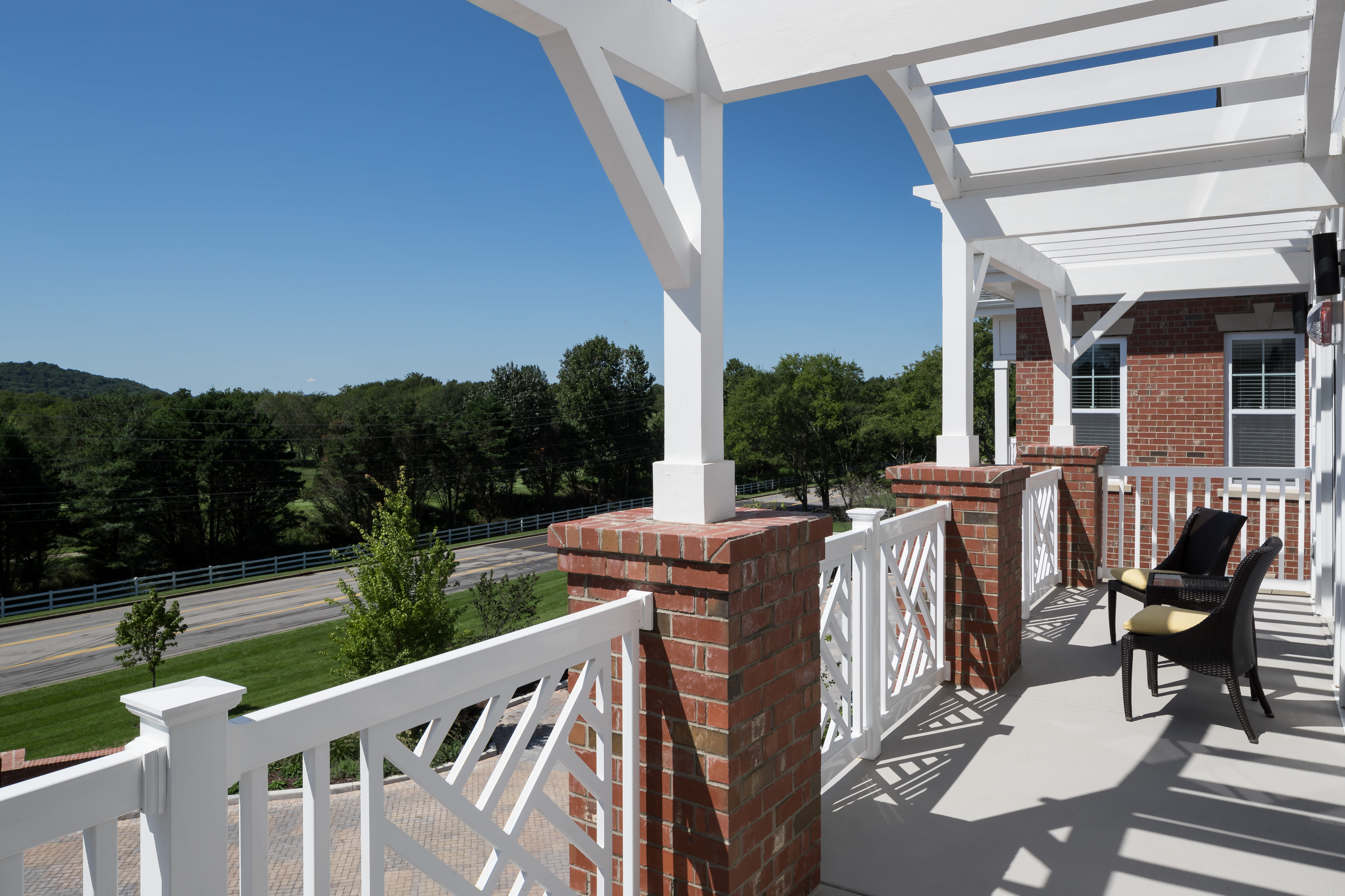 Gorgeous view from balcony at Avenida Cool Springs Active Senior Living in Franklin, TN
