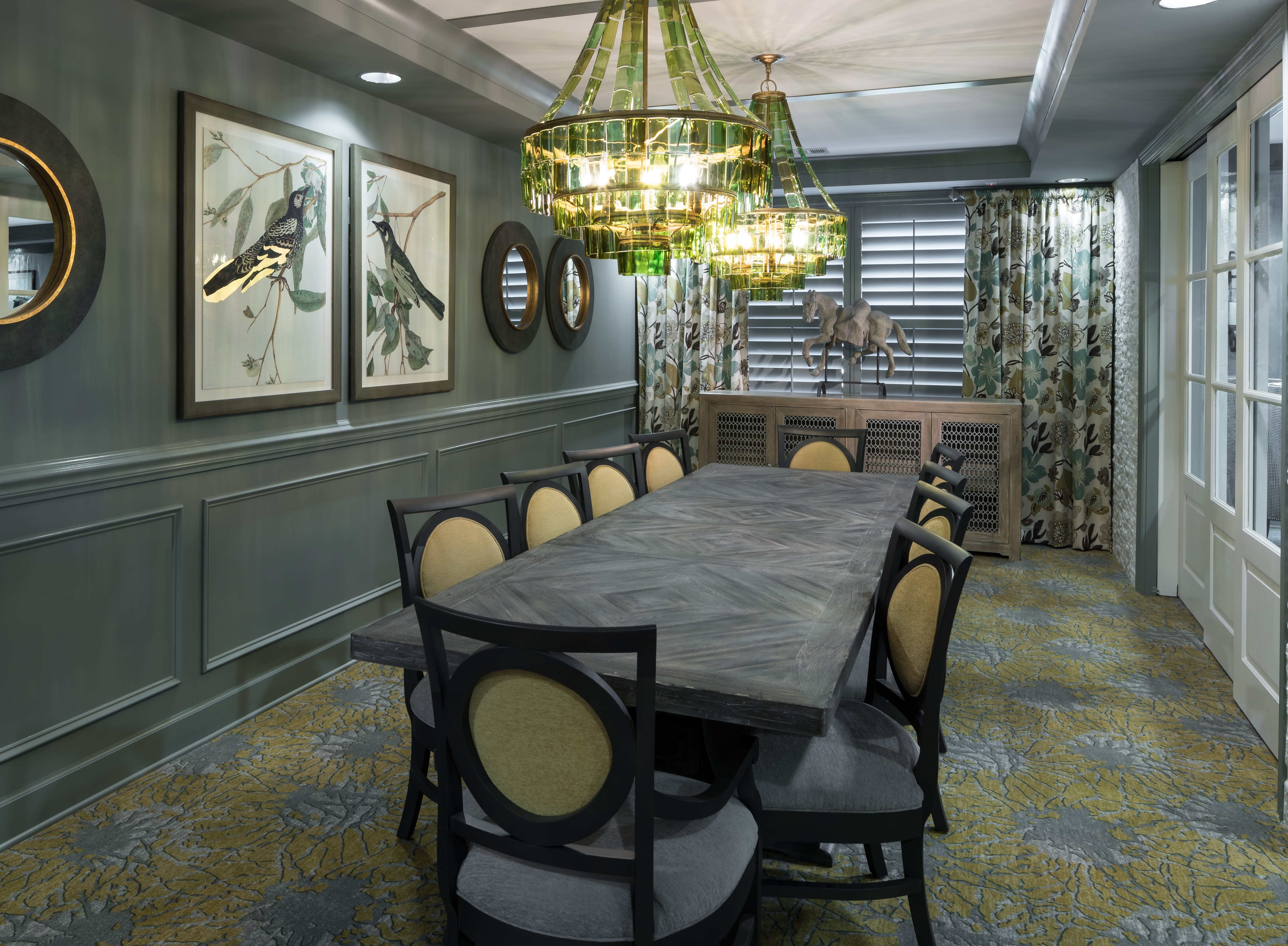 private dining area at Avenida Cool Springs Active Senior Living in Franklin, TN