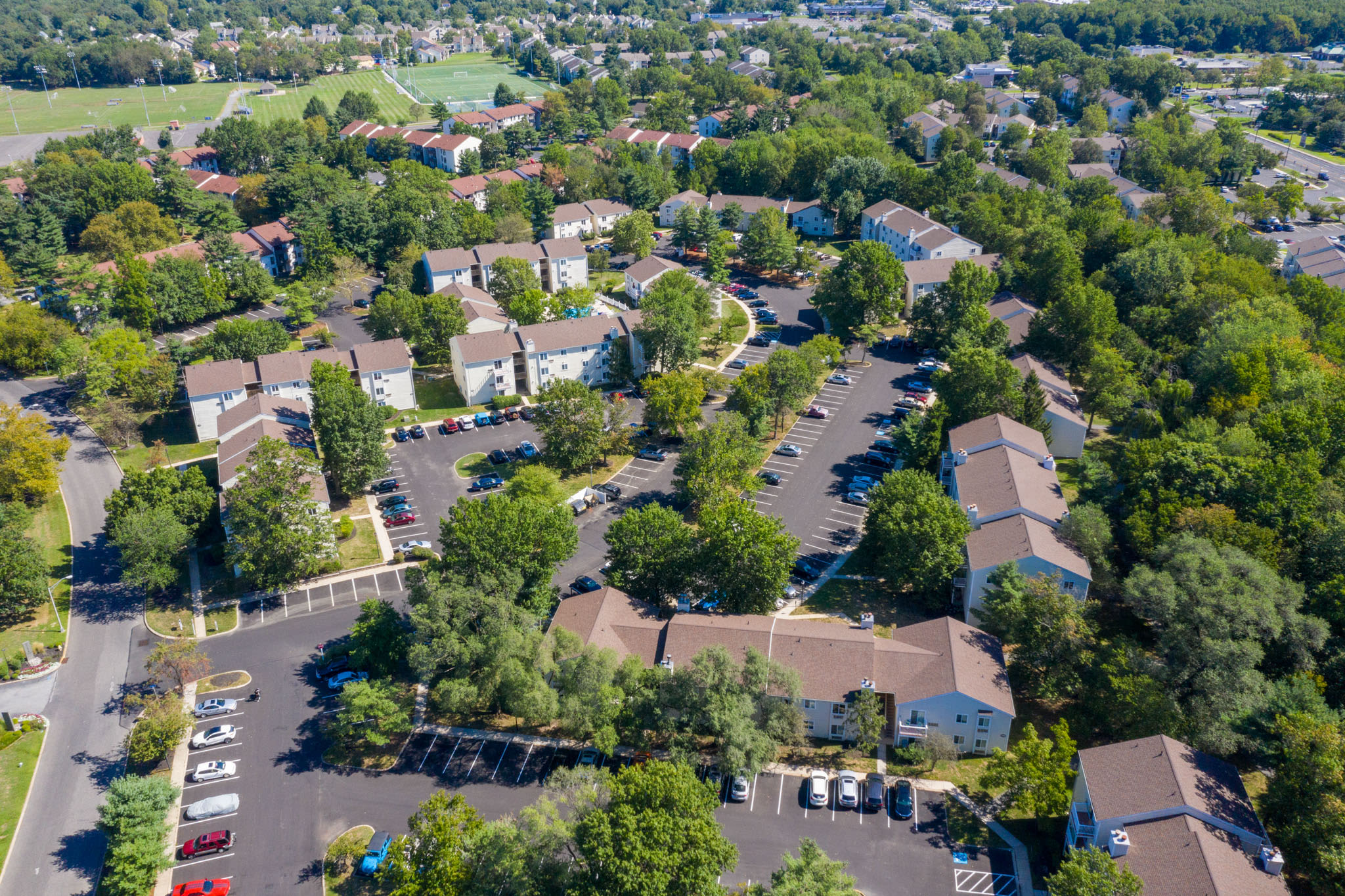Ariel view of The Village at Voorhees in Voorhees, New Jersey