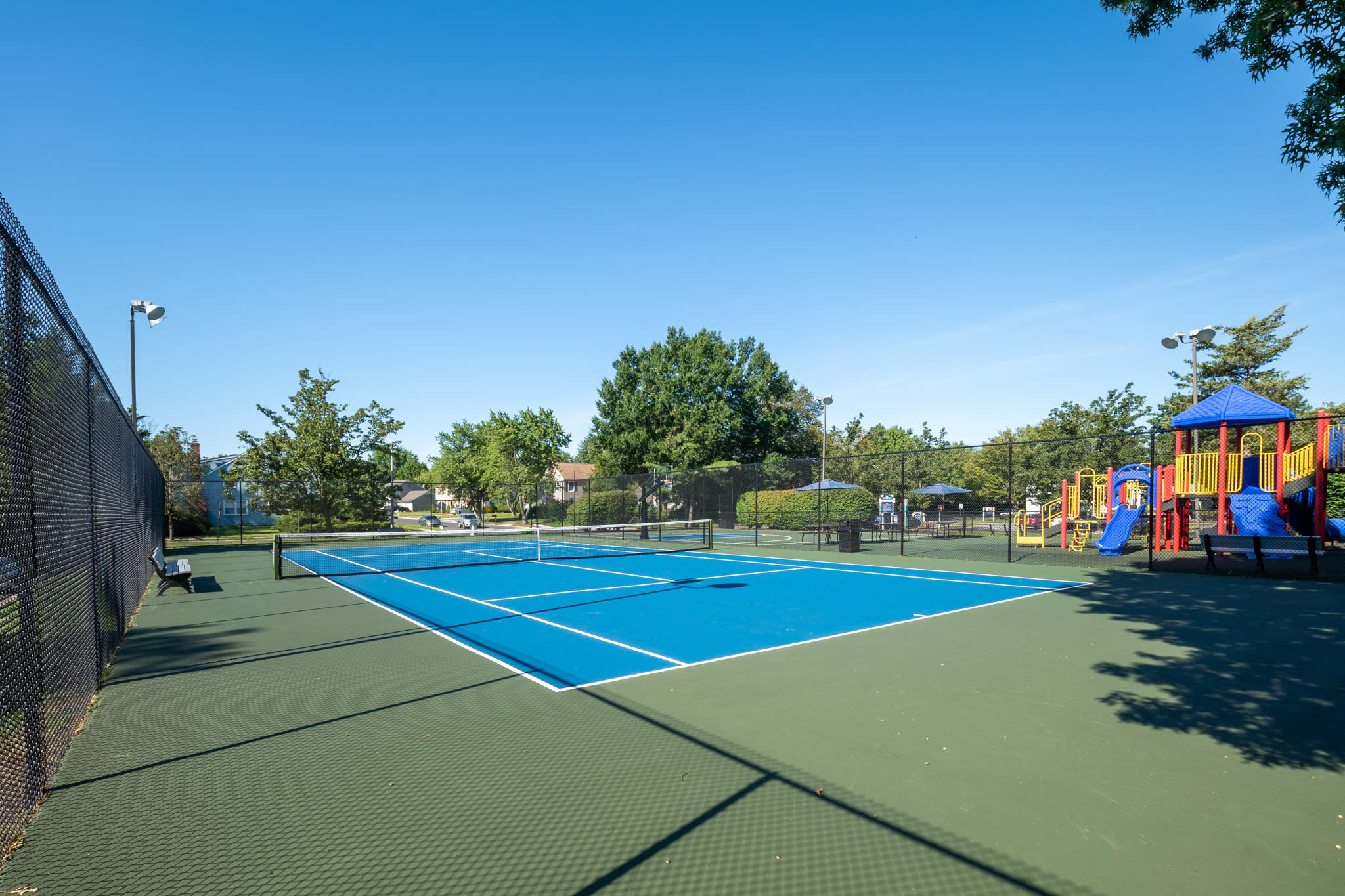 Tennis courts at The Village at Voorhees in Voorhees, New Jersey