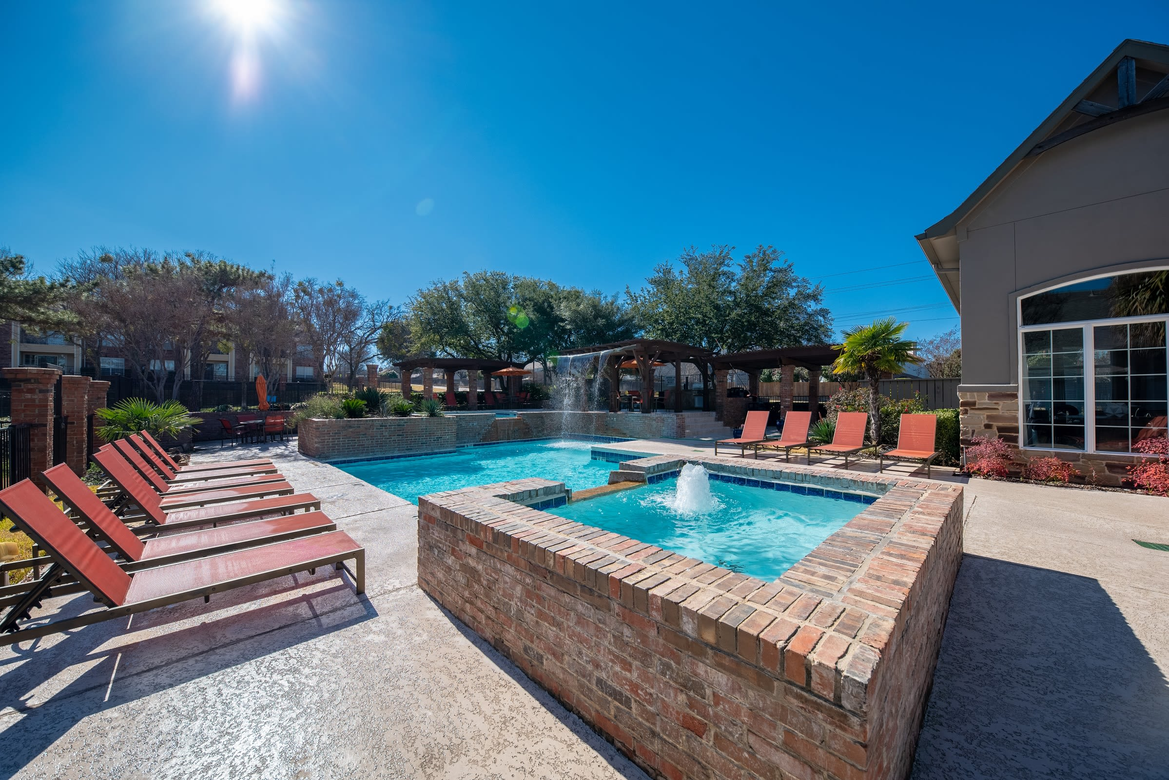 Hot tub at Village Green of Bear Creek in Euless, Texas