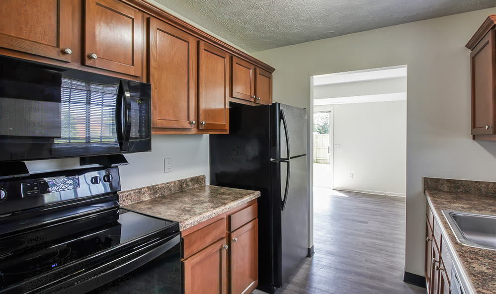 Spacious kitchen at Waverlywood Apartments & Townhomes in Webster, New York