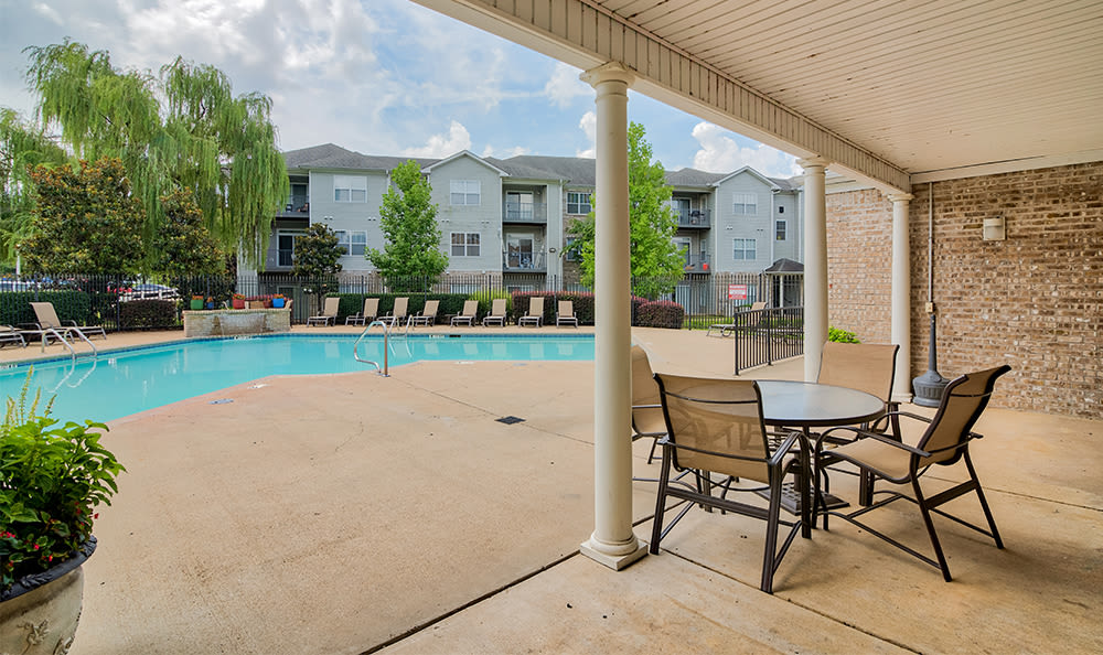 Relaxing pool at Crescent at Wolfchase home in Memphis, TN