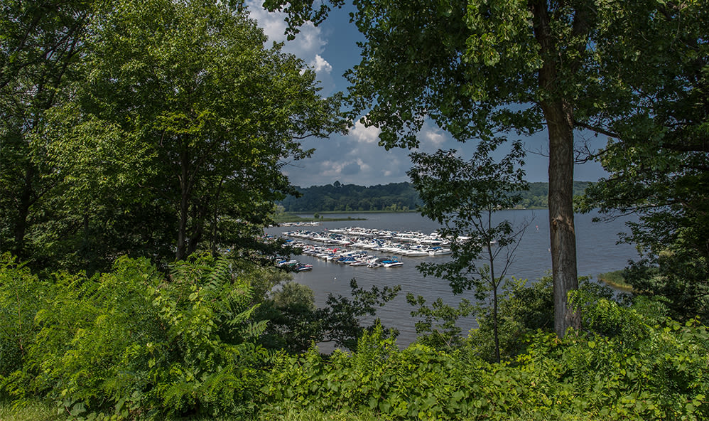 Lake view from Waters Edge Apartments in Webster, New York