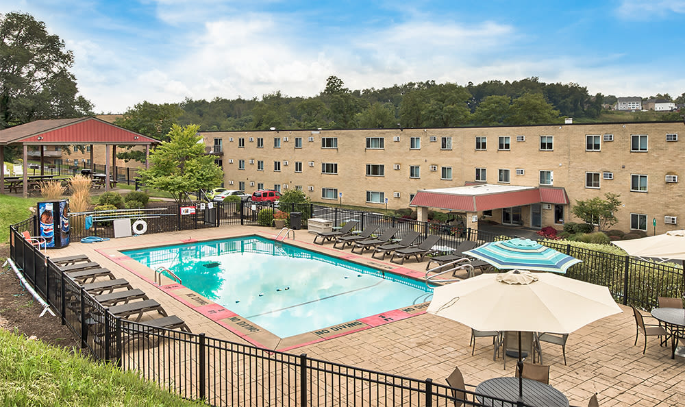 Large swimming pool at apartments in South Park