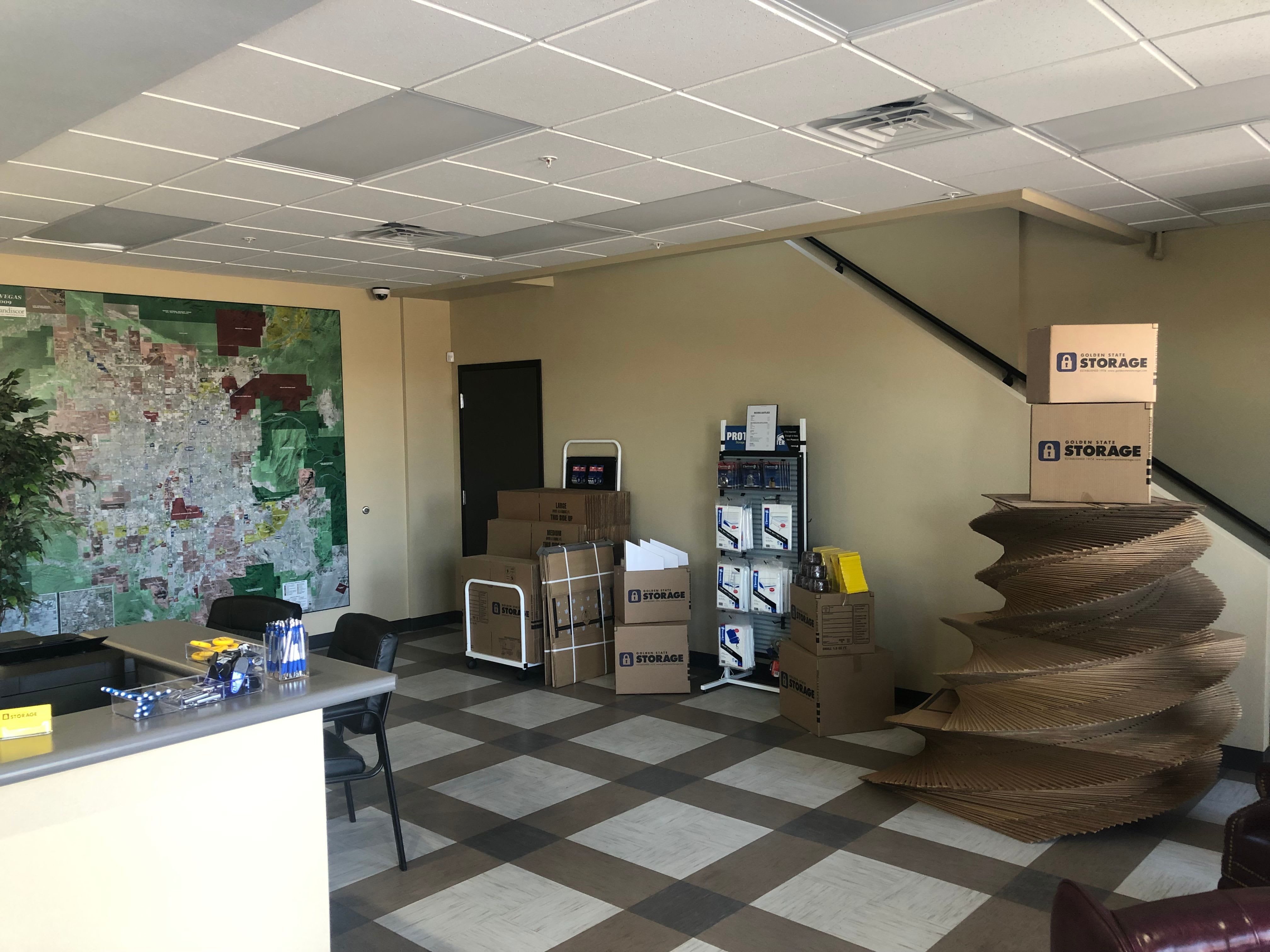 Lobby inside our storage facility on Golden State Storage Cadence in Henderson, Nevada