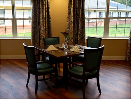 Brookridge Heights offers an excellent dining room