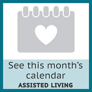 Check out this month's assisted living calendar at Brookstone Assisted Living Community in Fayetteville, Arkansas.