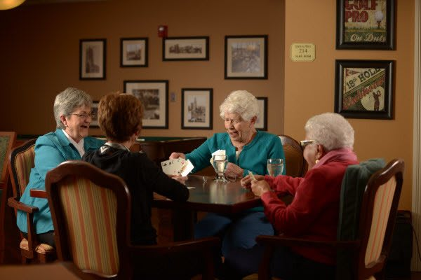 Seniors enjoy game nights at Symphony at St. Augustine in St. Augustine, Florida
