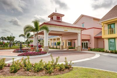 Main entrance to Symphony at Stuart in Stuart, Florida.
