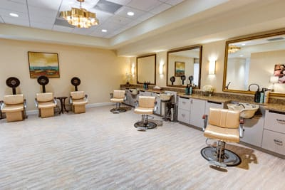 Onsite salon at Symphony at Stuart in Stuart, Florida.
