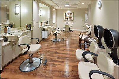 In-house salon at Symphony at Centerville in Dayton, Ohio