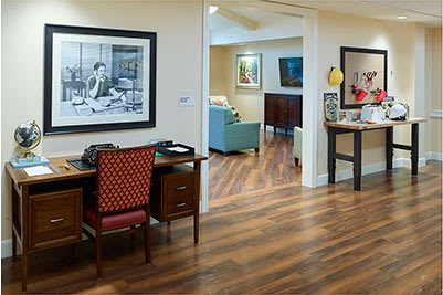 hallway with hardwood flooring at Symphony at Centerville in Dayton, Ohio