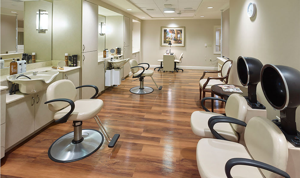 Our in-house salon at Symphony at Centerville in Dayton, Ohio