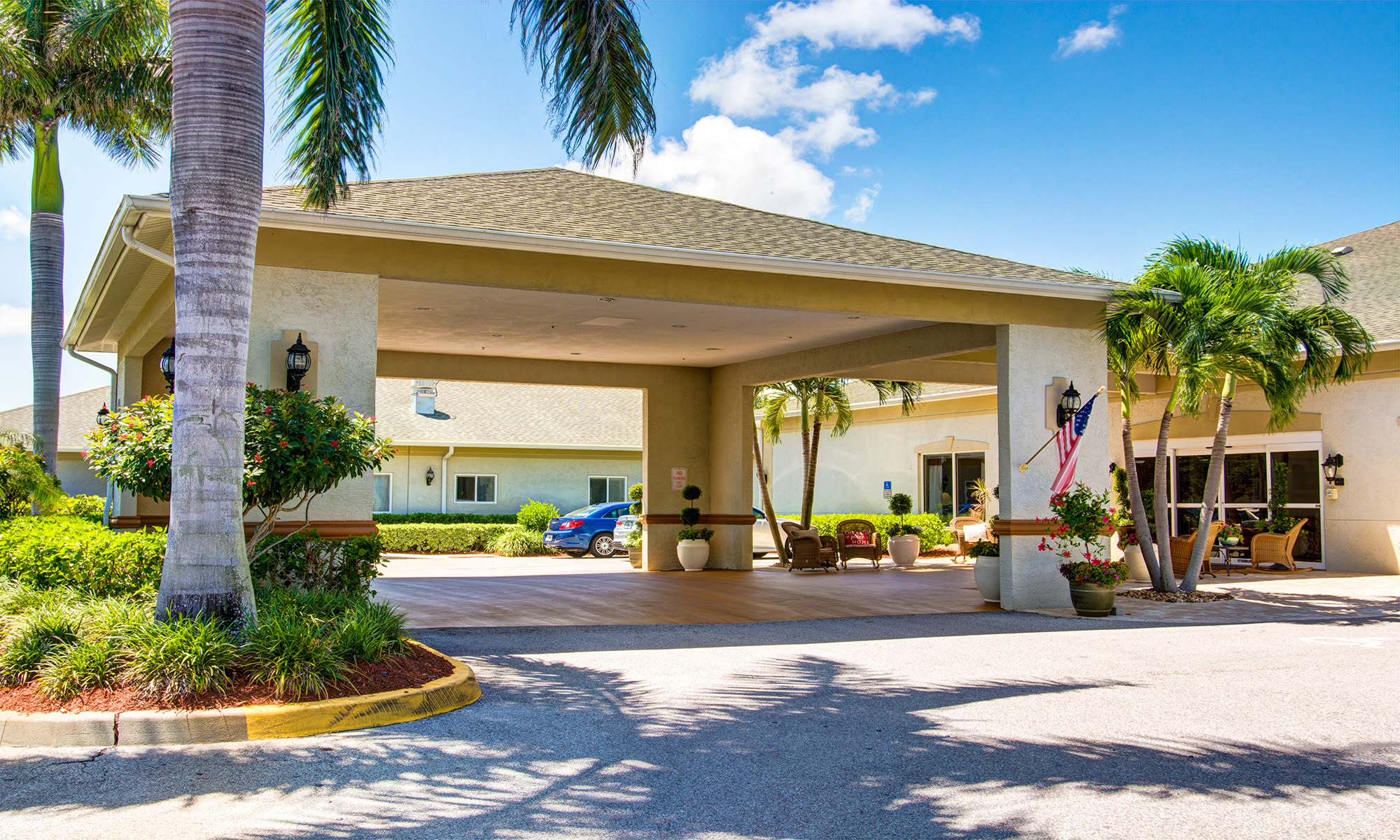 Senior living at The Lynmoore at Lawnwood Assisted Living and Memory Care in Fort Pierce, Florida