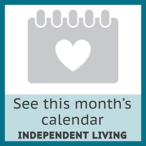 View this month's calendar for independent living at The Wentworth at Coventry in Salt Lake City, Utah.