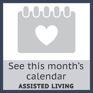 View this month's calendar for assisted living at The Wentworth at the Meadows in Saint George, Utah.
