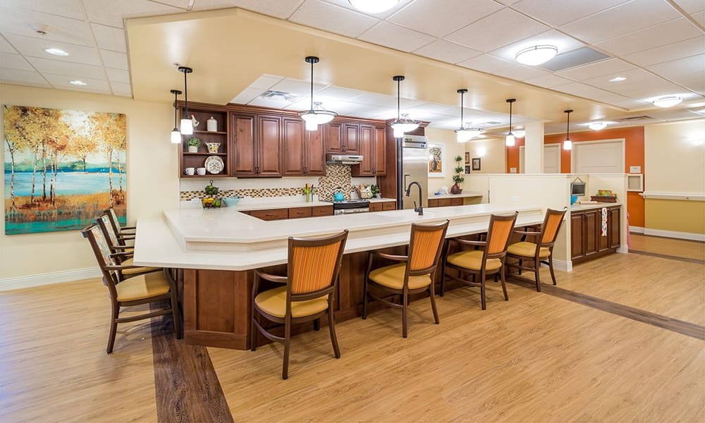 Community cafe and lounge at The Wentworth at the Meadows in Saint George, Utah