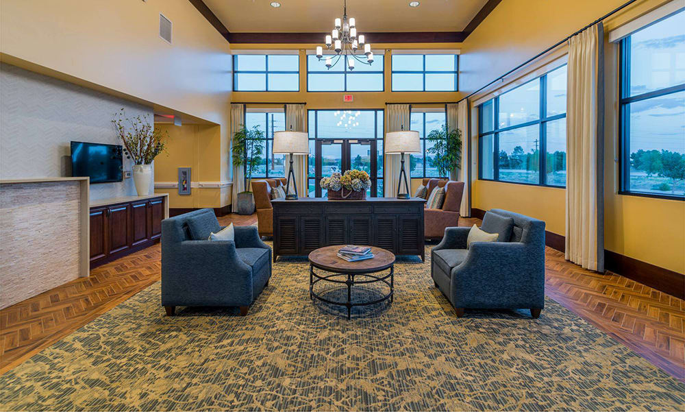 Quiet intimate seating area at The Wentworth at the Meadows in Saint George, Utah