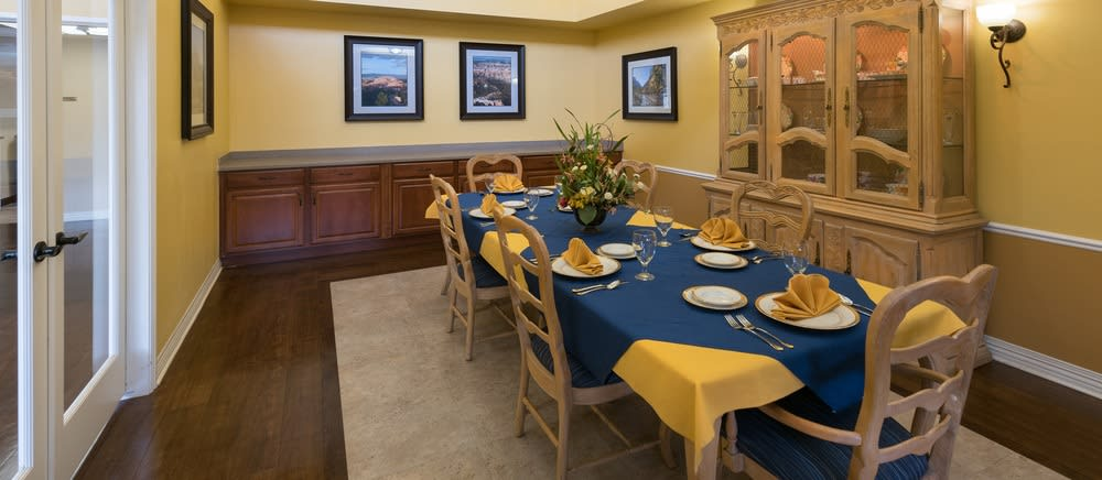 Senior living in Saint George includes private dining options.
