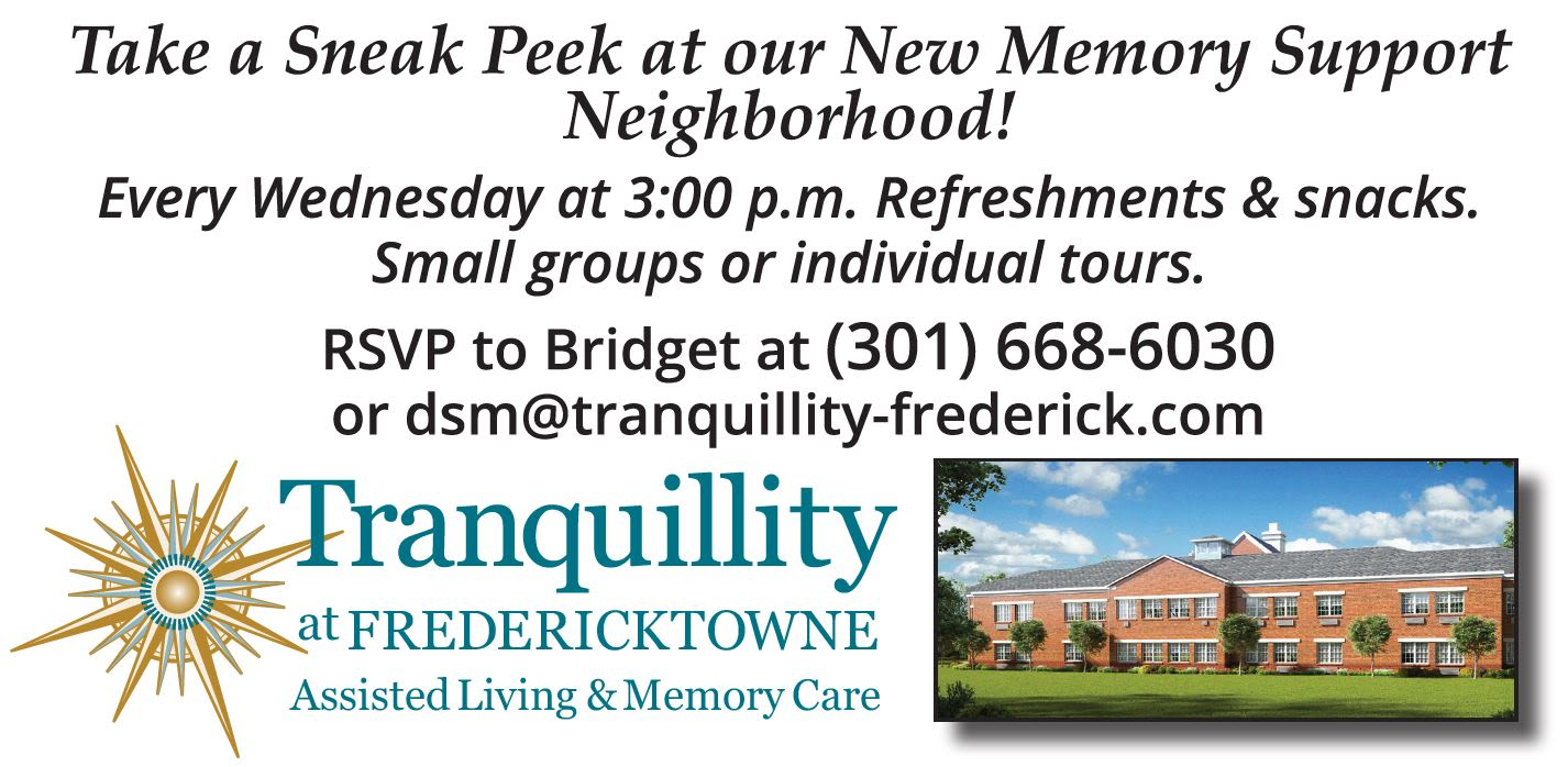 new memory support building at Tranquillity at Fredericktowne in Frederick, Maryland.