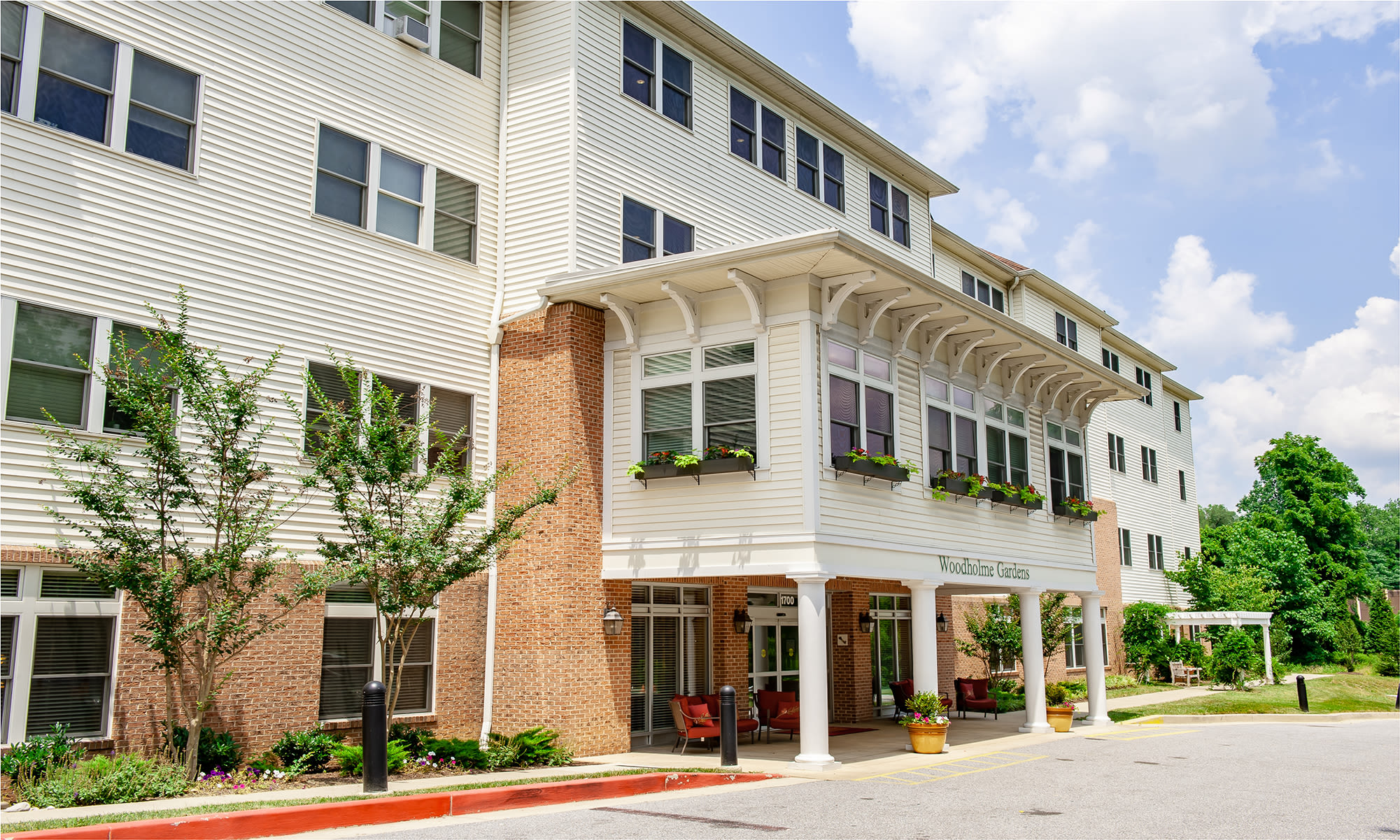 senior living at Woodholme Gardens in Pikesville, Maryland.