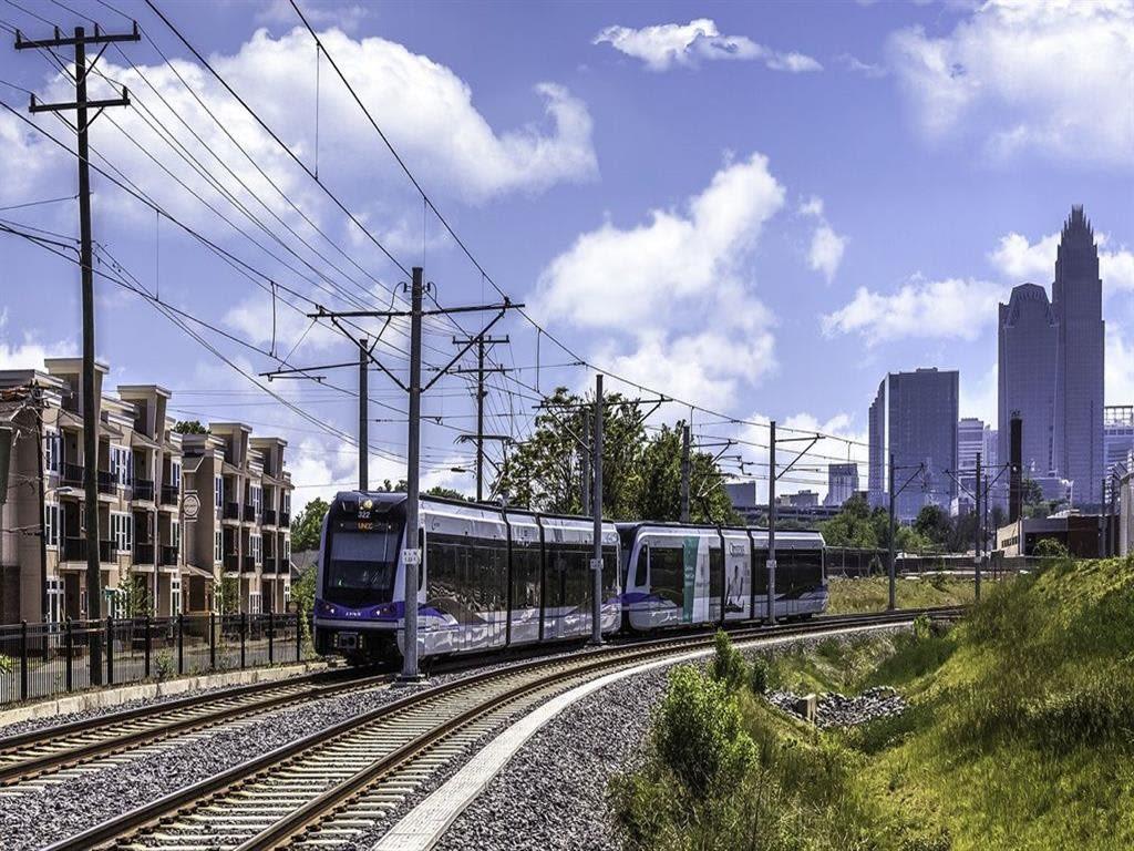 Quick access to the Light Rail near 300 Optimist Park in Charlotte, North Carolina