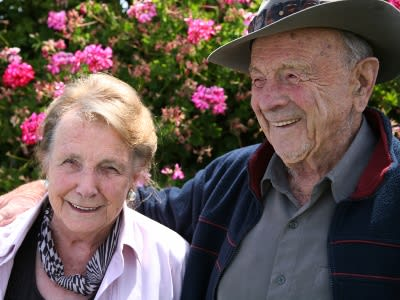 senior residents smiling
