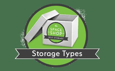 Storage types at Space Shop Self Storage in Riverdale, Georgia