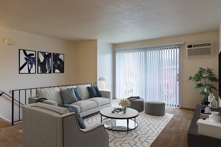 Spacious floor plans at Crossroads Apartments in Spencerport, New York