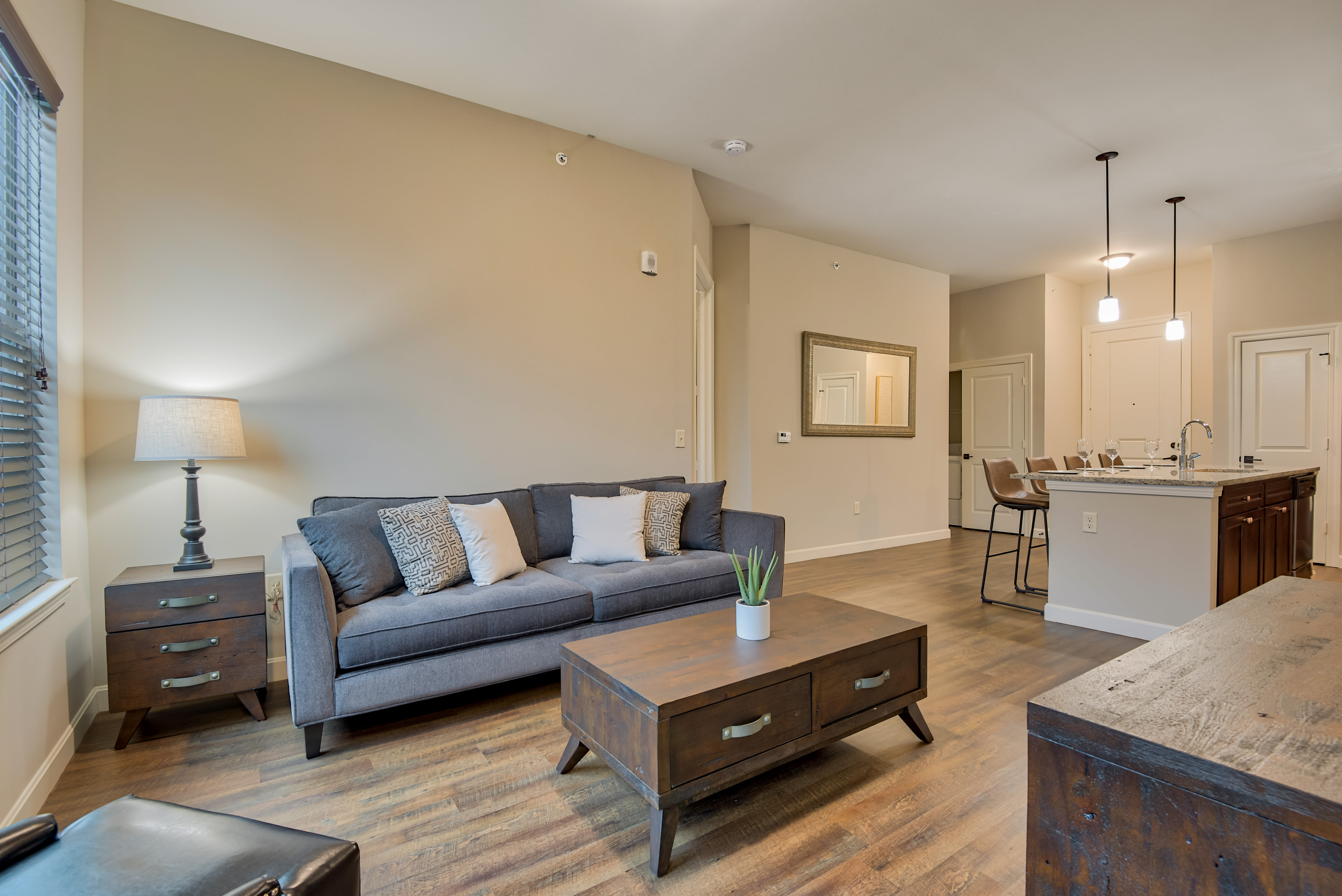 A spacious and open floor plan at Boulders at Overland Park Apartments in Overland Park, Kansas