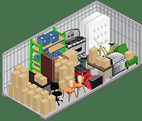 10x20 storage unit in Henderson