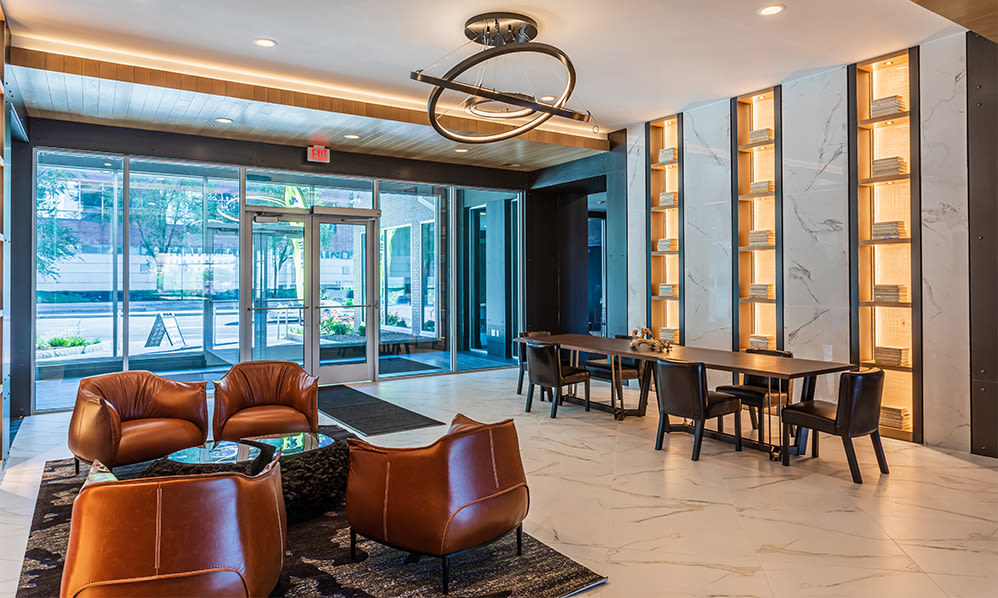 The Nathaniel in Rochester, New York showcase a modern clubhouse