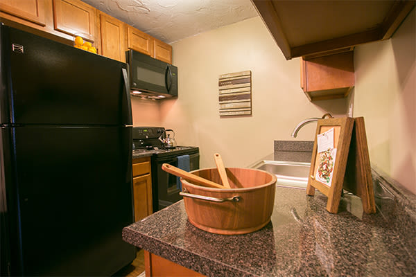 Beautiful kitchen at Solon Club Apartments