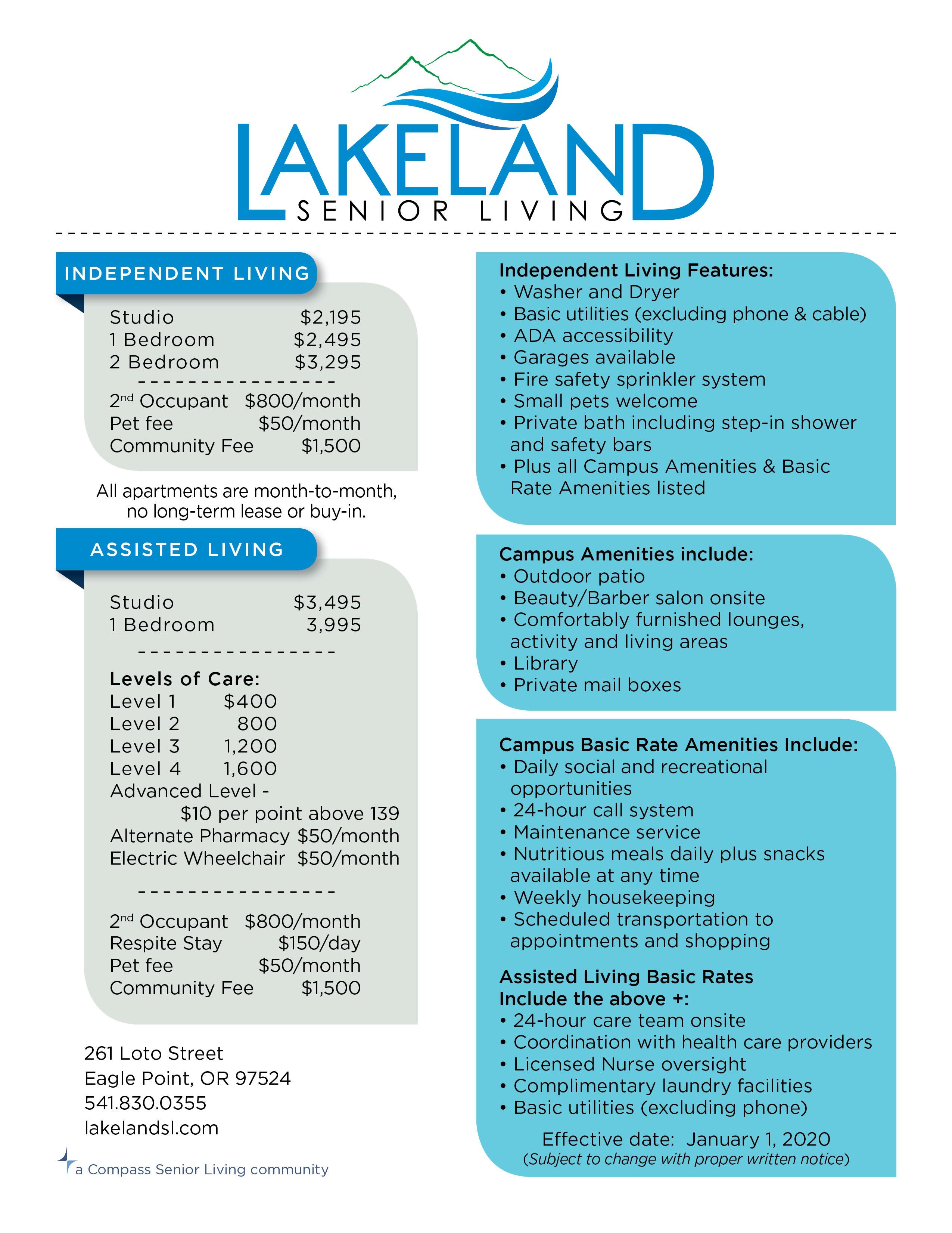 Rates information